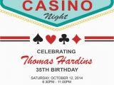 Las Vegas themed Birthday Invitations Las Vegas Birthday Invitation Adult Birthday by
