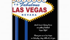 Las Vegas Themed Birthday Invitations
