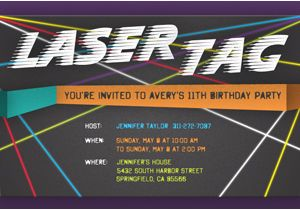 Laser Tag Birthday Invitation Templates Free Laser Tag Birthday Party Invitation Template Best Happy