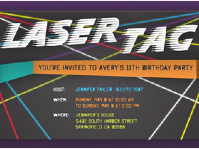 Download By SizeHandphone Tablet Desktop Original Size Back To Laser Tag Birthday Invitation Templates Free