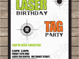 Laser Tag Birthday Invites Free Printable Laser Tag Birthday Party Invitations
