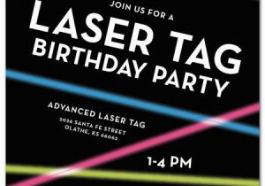 Laser Tag Birthday Invites Laser Tag Birthday Party Invitations