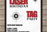 Laser Tag Birthday Invites Laser Tag Party Invitations Birthday Party