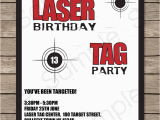 Laser Tag Birthday Invites Laser Tag Party Invitations Birthday Party