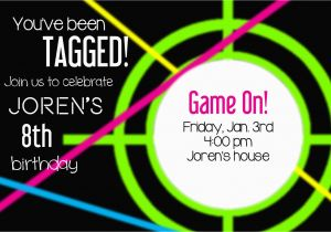 Laser Tag Birthday Invites Laser Tag Party Invitations Template Free Cimvitation
