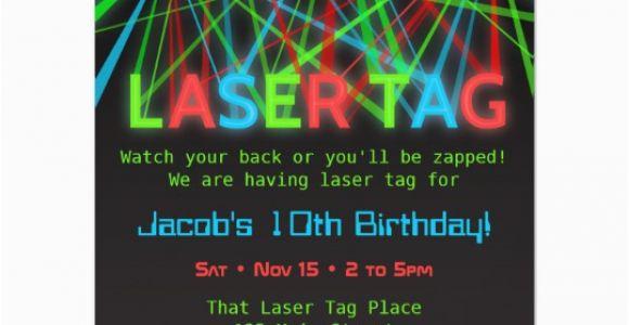 Laser Tag Birthday Invites Neon Words Laser Tag Birthday Party Invitations Zazzle