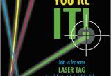 Laser Tag Birthday Invites Party Invitations Laser Tag at Minted Com