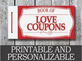 Last Minute Diy Birthday Gifts for Boyfriend Printable Love Coupon Book Boyfriend Valentine Day Gift