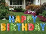 Lawn Decorations for Birthdays Happy Birthday Giant Art Yard Letters Surprise Decorations