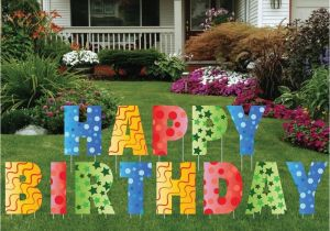 Lawn Decorations For Birthdays Happy Birthday Giant Art Yard Letters Surprise