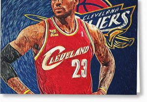 Lebron James Birthday Card Lebron James Digital Art by Taylan soyturk
