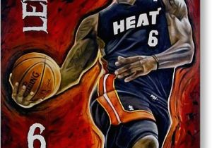 Lebron James Birthday Card Lebron James Oil Painting original Painting by Dan Troyer