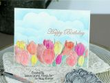 Left Field Birthday Cards Birthday Tulip Field Birthday Card for so Suzy Stamps