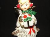 Lefton Birthday Girl Figurines Lefton December Birthday Angel Girl Figurine W Rhinestones