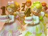 Lefton Birthday Girl Figurines Vintage Lefton Birthday Girl Figurinesset Of 8 1 Through 8