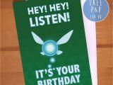 Legend Of Zelda Birthday Card Items Similar to Legend Of Zelda Navi 39 Hey Listen 39 Geeky