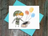 Legend Of Zelda Birthday Card Legend Of Zelda toon Link Birthday Card by Turtlessoup On Etsy