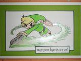 Legend Of Zelda Birthday Card Link Card Blank or Birthday Legend Of Zelda