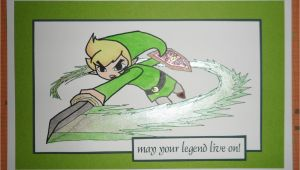 Legend Of Zelda Birthday Card Link Card Blank or Birthday Legend Of Zelda