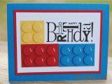 Lego Birthday Card Ideas Handcrafted Kids Building Block Style Building Block Birthday