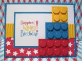 Lego Birthday Card Ideas Stampin with Pat Stampin Up Demonstrator Lego Birthday Card