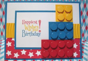 Lego Birthday Card Ideas Stampin With Pat Up Demonstrator