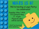 Lego Birthday Invitation Wording Lego Personalized Birthday Party Invitations