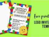 Lego Birthday Invitations Online Free Printable Lego Birthday Party Invitation Template