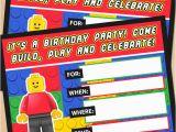 Lego Birthday Invitations Online Free Printable Lego Building Blocks Birthday Invitation