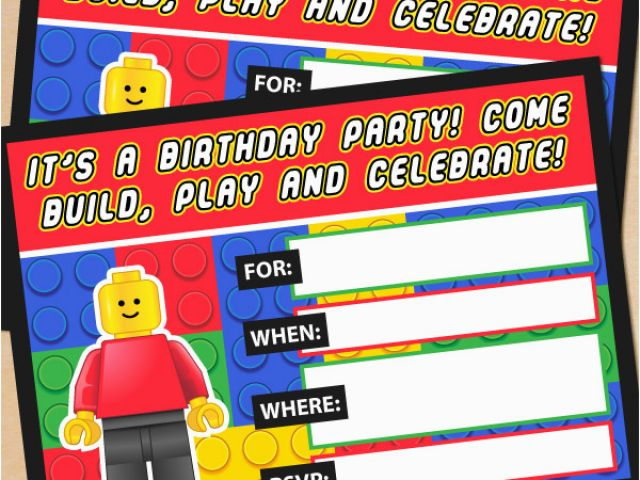 Download By SizeHandphone Tablet Desktop Original Size Back To Lego Birthday Party Invitations Online
