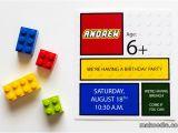 Lego Birthday Party Invitations Online Lego Invitation Makoodle