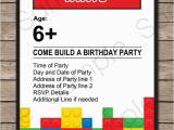 Lego Birthday Party Invitations Online Lego Party Invitations Lego Invitations Birthday Party