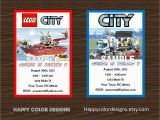 Lego City Birthday Invitations 5 Best Images Of Lego City Birthday Invitations Printable