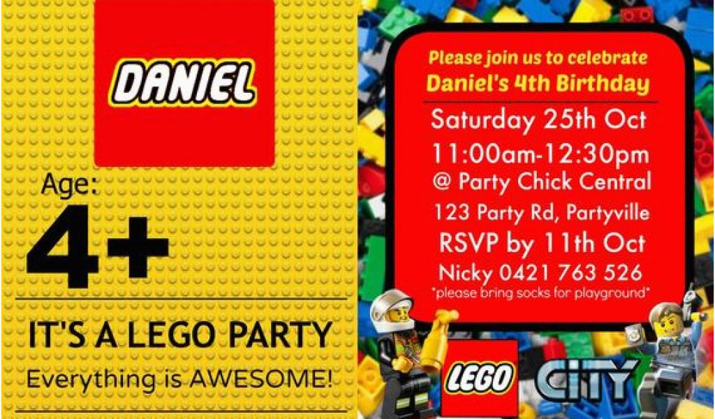 Download By SizeHandphone Tablet Desktop Original Size Back To Lego City Birthday Invitations
