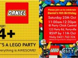 Lego City Birthday Invitations Items Similar to Lego City Blocks Party Invite Invitation