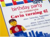 Lego City Birthday Invitations Lego Birthday Invitations the Scrap Shoppe