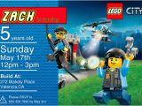 Lego City Birthday Invitations Lego City Birthday Invitation Personalized with Door
