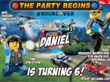 Lego City Birthday Invitations Lego City Invitation