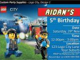 Lego City Birthday Invitations Lego City Police Birthday Party Invites Invitations