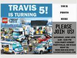 Lego City Birthday Invitations Lego Police Birthday Invitation orderecigsjuice Info