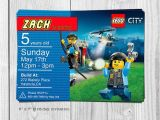 Lego City Birthday Party Invitations 25 Best Ideas About Lego Birthday Invitations On