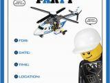 Lego City Birthday Party Invitations Items Similar to Lego City Police Party Supplies On Etsy