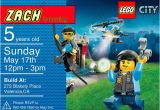 Lego City Birthday Party Invitations Lego City Birthday Invitation Personalized with Door