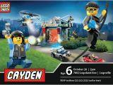 Lego City Birthday Party Invitations Lego City Police Birthday Invitation Cody 39 S 5th Birthday