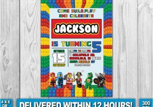 Lego City Birthday Party Invitations Invitation Invite By