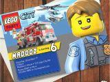 Lego City Birthday Party Invitations Lego Police Birthday Invitation orderecigsjuice Info