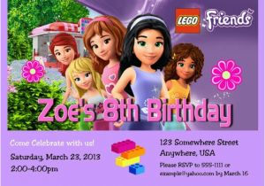 Lego Friends Birthday Invitation Girl Party With Free By