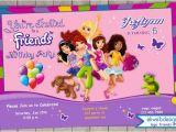 Lego Friends Birthday Invitations Lego Friends Birthday Invitation Printable File