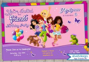 Lego Friends Birthday Invitations Invitation Printable File