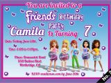 Lego Friends Birthday Invitations Lego Friends Birthday Invitations Digital Jpeg File Only